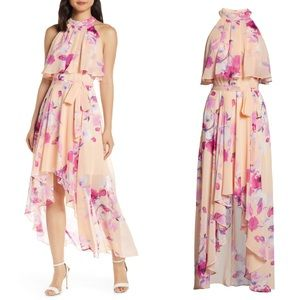 Eliza J Halter High/Low Maxi Dress
